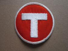 Letter T Woven Cloth Patch Badge (L1K)
