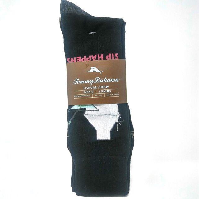 Men/'s TOMMY BAHAMA SIP HAPPENS MARTINI PALM TREE Casual Dress Socks $22 4Pack