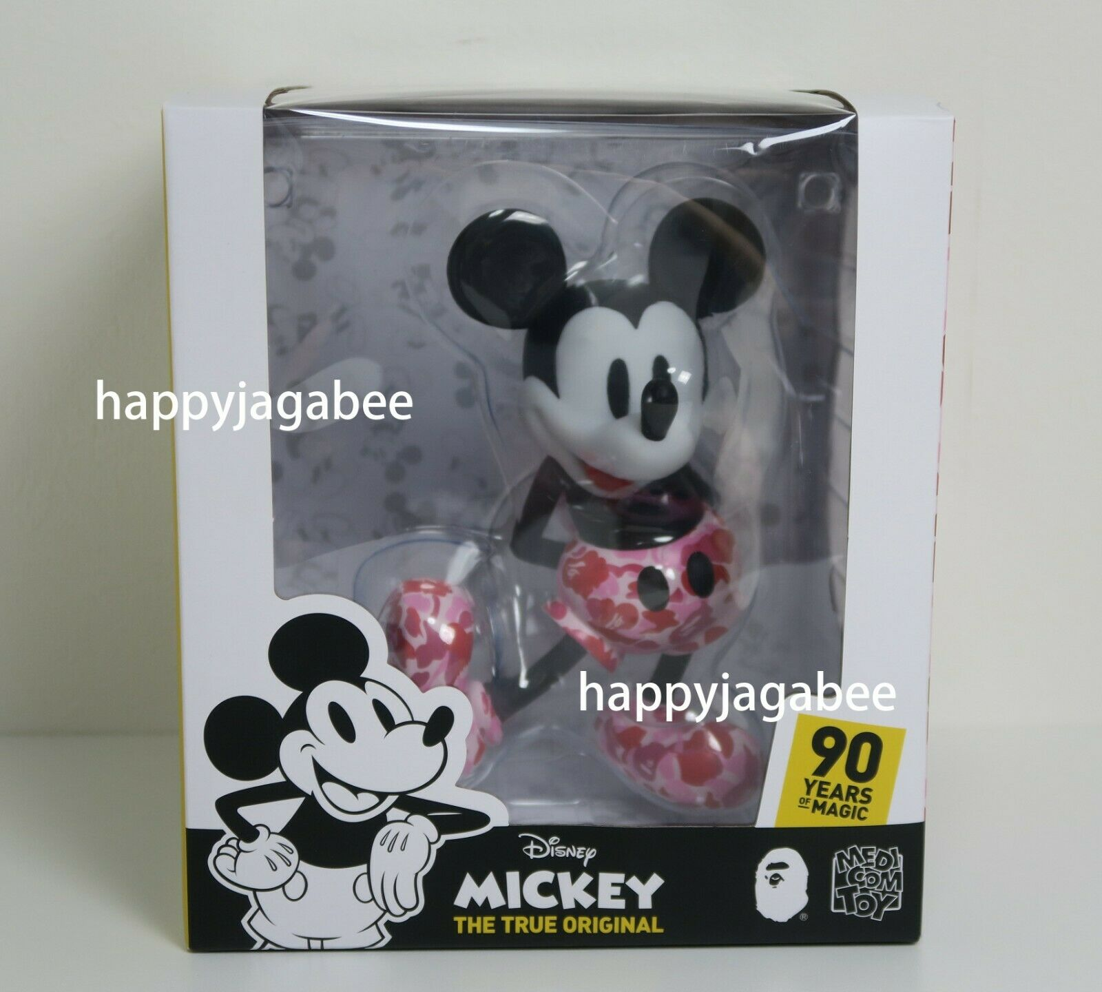 A BATHING APE × BEARBRICK x MICKEY MOUSE VCD Pink Bearbrick From Japan New