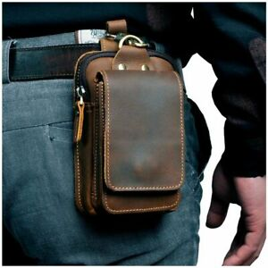 Waist-Bag-Real-Leather-Casual-Design-Small-Fashion-Belt-Pack-Case-Phone-Pouch