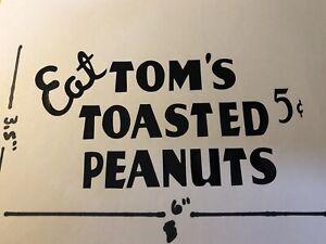 Tom's Peanut/cracker Jar Decal Black