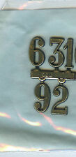 """3/4"""" Tall Standard Numerals 3,6,9,12 For Use On Clocks"""