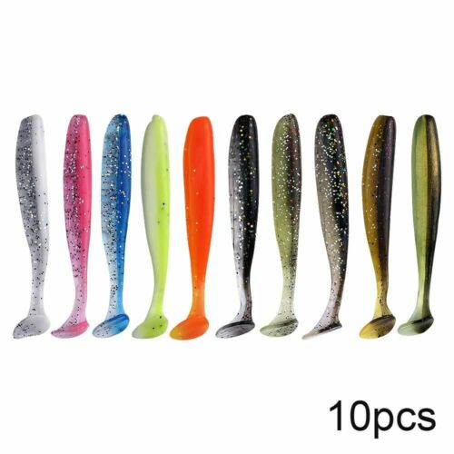 10pcs Bass Fishing Lures Silicone Bait Pva Swimbait Wobblers Artificial Tackle