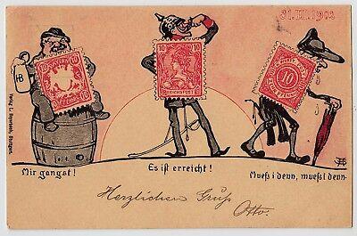 Postal Stationary Ganzsache Honig WÜrttemberg Postgeschichte 1902 Ganzsache Postkarte Pp11 C56