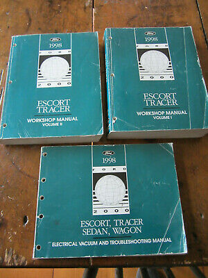 1998 FORD ESCORT MERCURY TRACER SERVICE SHOP REPAIR MANUALS & WIRING  DIAGRAMS | eBay | 1998 Mercury Tracer Wiring Diagram |  | eBay