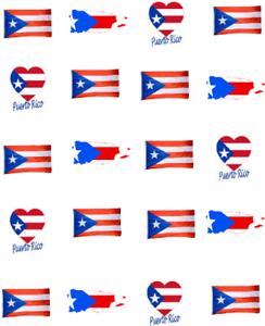 Puerto Rican Flag Waterslide Nail Decals Nail Art Ebay