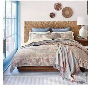 Ralph Lauren Half Moon Bay 7pc Queen Duvet Cover Set With Shams