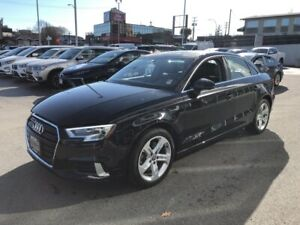 2017 Audi A3 2.0T W/LEATHER-MOONROOF-LOW LOW KM'S