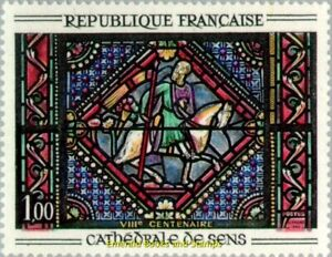 EBS-France-1965-800th-Anniversary-Cathedral-of-Sens-MNH-YT1427
