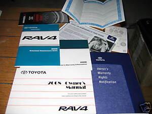 2008 toyota rav4 owners manual owner s rav 4 ebay rh ebay com 2008 toyota rav 4 owners manual supplement 2008 toyota rav 4 owners manual supplement