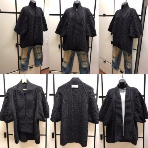 Veritecoeur Lofty Cable Knit Black Sweater Black M