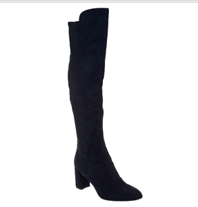 abb4d7adf8e Marc Fisher Faux Suede Over-the-Knee Boots - Loran Midnight Blue ...