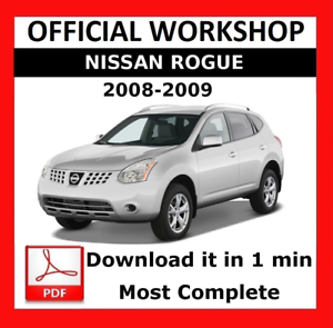 official workshop manual service repair nissan rogue 2008 2009 rh ebay co uk 2009 nissan rogue sl owners manual 2008 nissan rogue service manual