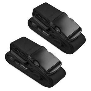 2x-Koffergurt-Gepaeckgurt-Kofferguertel-Kofferband-Gepaeckband-Kofferriemen-Reise