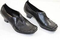 TS0046 HUSH PUPPIES Pumps Gr.4 1/2 H EU 37 Schwarz Damen Schuhe, Leder