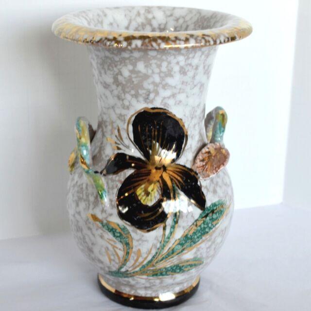 Ceramics & Porcelain Vintage Vase Deruta Majolica Handpainted Blue Bird In Pain