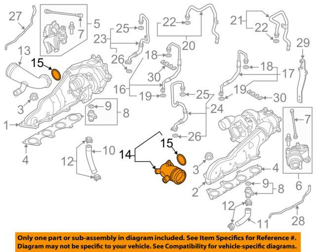 New Audi 2012-2016 Left Side Intake Hose *079129571P
