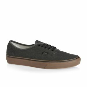 504088046e Vans Authentic Washed Canvas Black Gum Men s 7.5 Women s 9 Skate ...