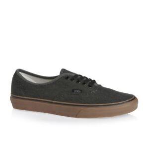 4cf4992797 Vans Authentic Washed Canvas Black Gum Men s 7.5 Women s 9 Skate ...