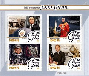 Le Sénateur John Glenn Nasa Astronaute Espace 4 V Stamp Sheet #1 (2016-guinée)-afficher Le Titre D'origine Performance Fiable