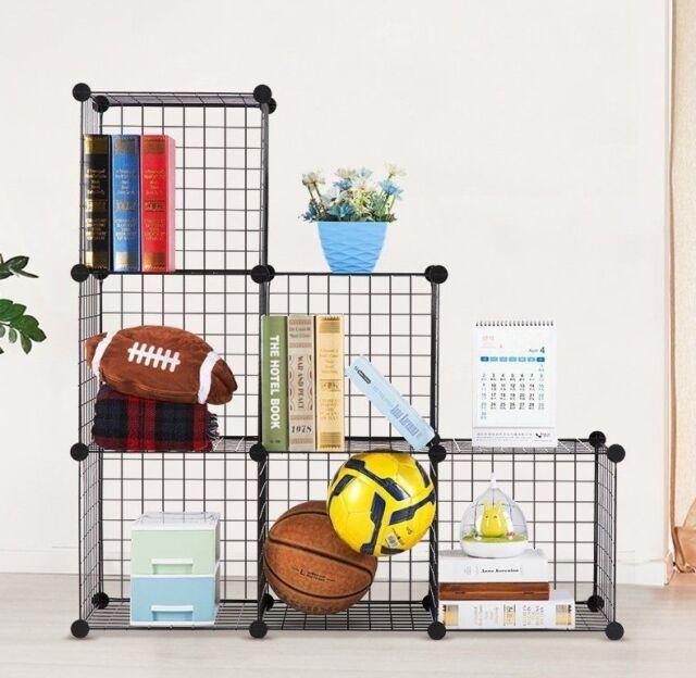 6 Cube Wire Grid Storage, Shelving / shelf Rack, Closet Cabinet Bookcase / DIY