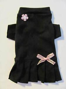 Black-T-Shirt-Knit-Dress-Dog-Puppy-Teacup-Pet-Clothes-XXXS-Large