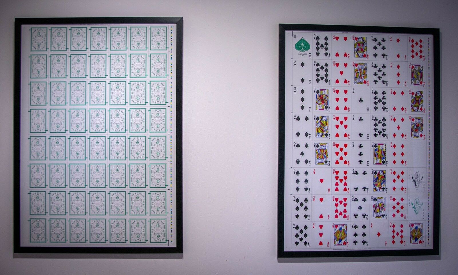 Uncut Playing Card Sheet By Deceptive Arts Limited Edition Without Frame