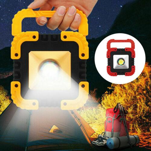 Solar Camping Light Lantern LED COB Work Light USB Rechargeable Tent Flood Lamp