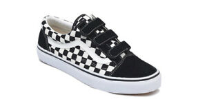 vans old skool velcro ez suede checkerboard black white ebay. Black Bedroom Furniture Sets. Home Design Ideas