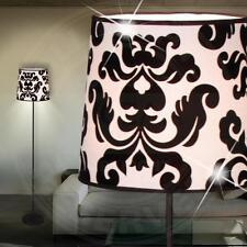 A9371N Lámpara de pie con Interruptor en negro / Blanco, tela Pantalla X pieza