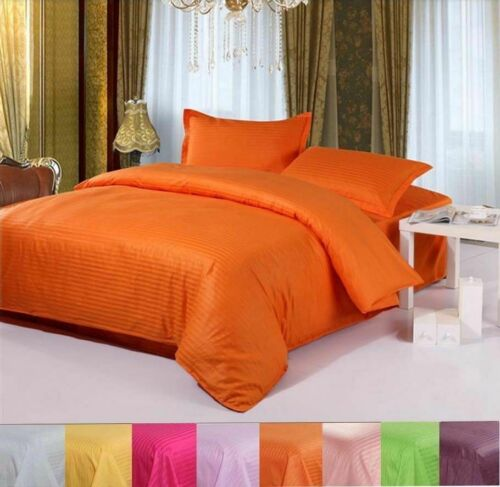 Bedding Items 1000//1200 Thread Count Egyptian Cotton White Solid//Stripe US Sizes