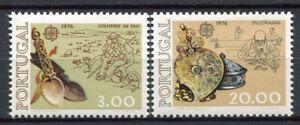 Europa-CEPT-1976-Mi-1311-1312-Postfrisch-100-Portugal-Kunst