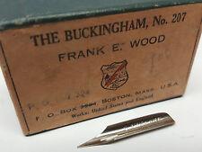 New single (1) Frank E Wood brand No. 207 tip fountain ink dip pen replace nib