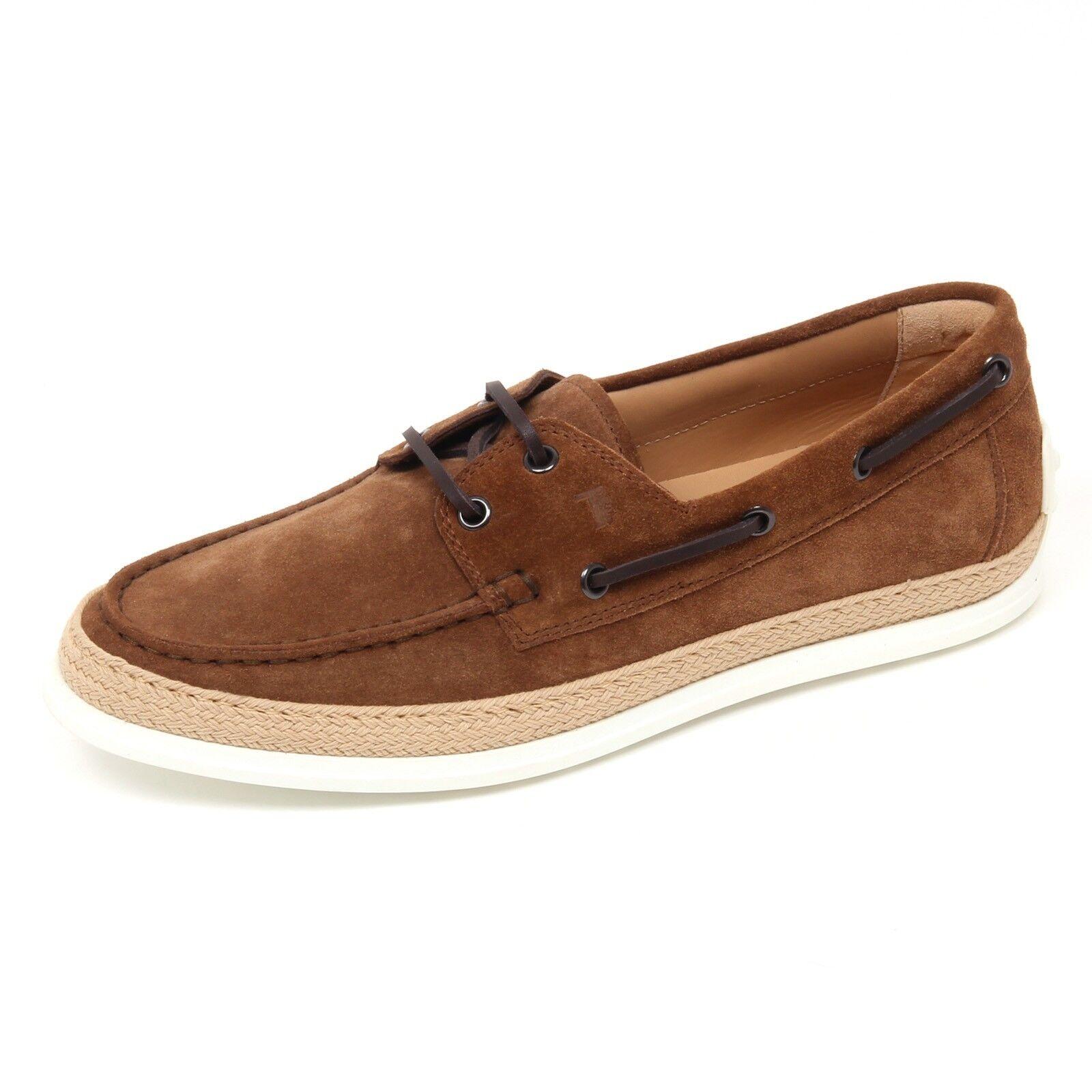 C9976 barca uomo TOD'S scarpa mocassino rafia marrone loafer shoe man
