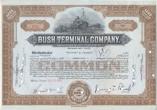 USA Amerika Bush Terminal Company alte Aktie 1938