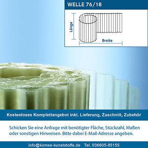 Polyester Rollenware Sinuswelle 76 18 Polyesterwellbahn Transparent Natur