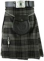 Grau Schottisch Herren Kilt Schottenkaro Kilts Traditionell Highland kleid