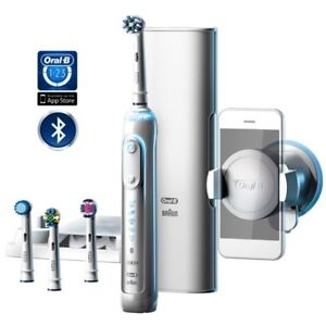 c2aa709afafa23 Braun Oral B Genius 9000 - Bluetooth With 4 Brush Heads Included 3 Year