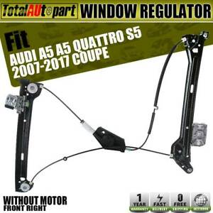 Power Window Regulator w/o Motor Front Right for Audi A5 ...