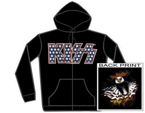 KISS Hoodie Felpa Logo Stars OFFICIAL MERCHANDISE