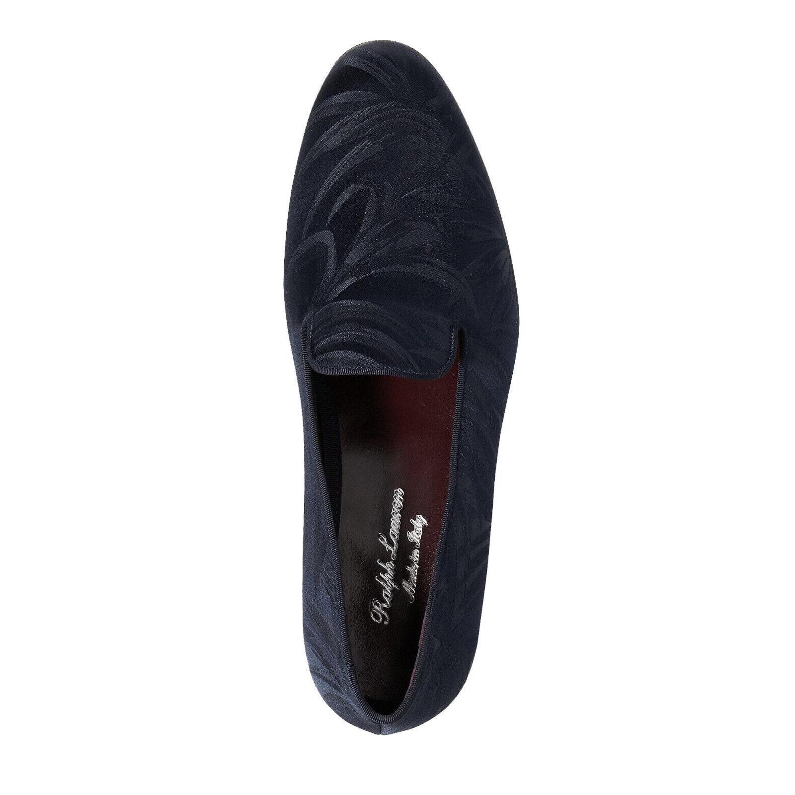 Ralph Lauren lila Label Marineblau Collis Palm Jacquard Slipper Slipper Slipper Schuhe Neu  610f10