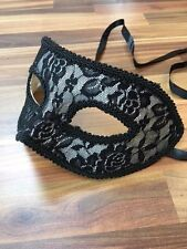 Masquerade Mask Venetian Filigree Ball Prom Party Disco Black Lace Front
