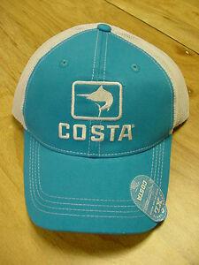 e606a1df5bc BRAND NEW COSTA DEL MAR MARLIN MESH ADJUSTABLE CAP HAT BLUE STONE