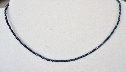 KD - 38 3 mm de plata 50 cm faceteados negro espinela piedras preciosas cadena,