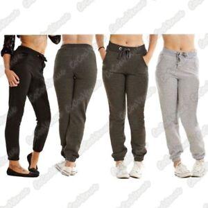venta caliente online a7b42 c6178 Detalles de Nuevo de Paño Grueso para Dama Liso Chándal Pantalones con Puños