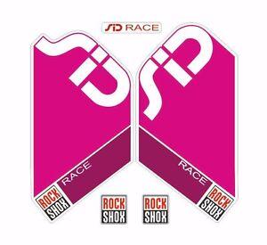 Rock Shox SID Race Mountain Bike Cycling Factory Style Decal Kit Sticker Blue
