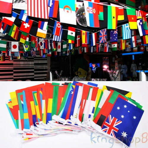100 pcs Countries String Flag 25M International World bar party Banner Bunting