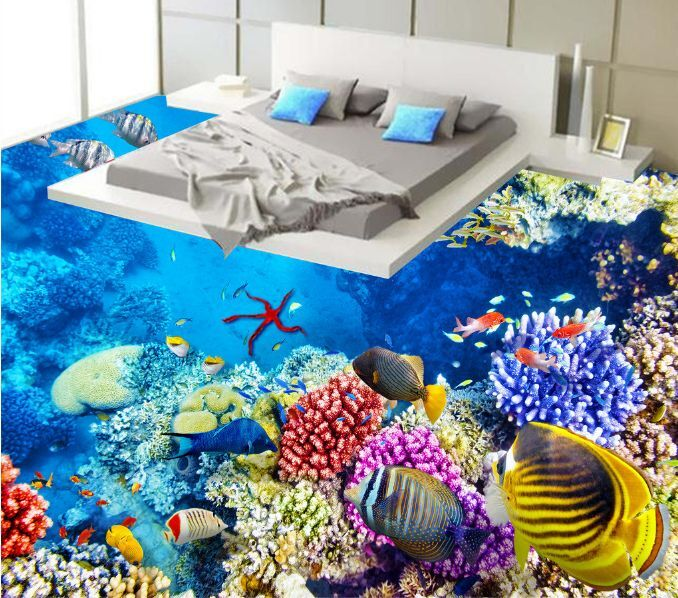3D Halobios Various Fish Floor WallPaper Murals Wall Print Decal 5D AJ WALLPAPER