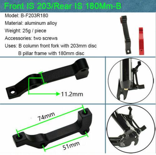 140//160//180//203mm MTB Bike Disc Brake Rotor IS Brakes Adapter Caliper 180//203mm