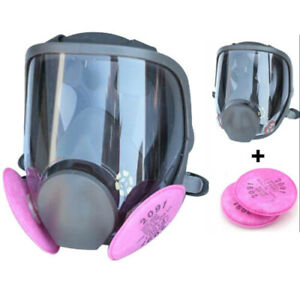 Full-Face-Mask-Painting-Spraying-Respirator-Facepiece-6800-amp-3M-2091-P100-Filters